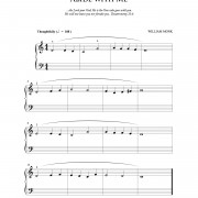 """Abide with Me"" beginner piano hymn sheet music // from The Beginning Pianist's Hymnal, available at www.LacieBowmanMusic.com"