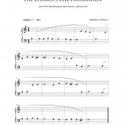 """The Church's One Foundation"" beginner piano hymn sheet music // from The Beginning Pianist's Hymnal, available at www.LacieBowmanMusic.com"